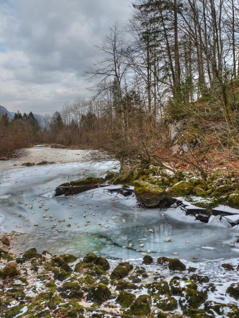 Frozen stream in Slovenia